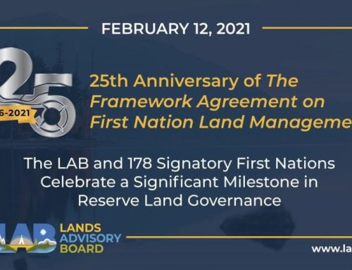 25th Anniversary of The Framework Agreement on First Nation Land Management